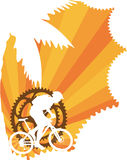 ταπετσαρία βουνών ποδηλά&tau Στοκ Εικόνα