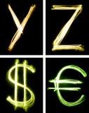 φως επιστολών που χρωμα&tau Στοκ εικόνα με δικαίωμα ελεύθερης χρήσης