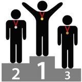 τρίτοι νικητές εξεδρών δεύ&tau Στοκ φωτογραφία με δικαίωμα ελεύθερης χρήσης