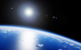διαστημική όψη γήινων πλανη&tau Στοκ Εικόνα
