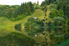 Tau brazi lake Royalty Free Stock Images
