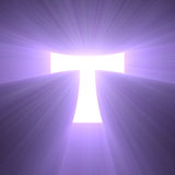 Tau cross symbol light flare Stock Image