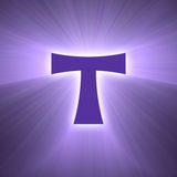 Tau cross symbol light flare Royalty Free Stock Photo