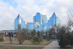 Tau de Nurly do centro de negócio em Almaty Fotografia de Stock Royalty Free
