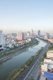 Tau Hu Canal från hög sikt i den Ho Chi Minh staden, Vietnam Royaltyfri Bild