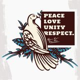 Taube mit Olive Branch Peace Symbol Illustration Stockfotos