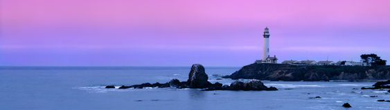 Taube-Punkt-Leuchtturm Stockfoto