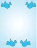 Tauben auf Blau Stockbild