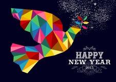 Taubenkarte 2015 des neuen Jahres Friedens Stockbild