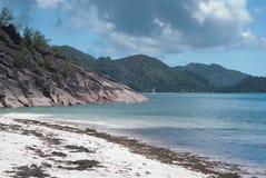 Taubenschlag D'Or Strand Praslin Seychellen lizenzfreie stockfotografie