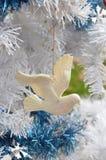 Taubensymbol-Weinleseverzierungen der weißen Weihnacht Friedens Lizenzfreies Stockfoto
