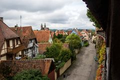 TAUBER de ROTHENBURG OB DER, BAVARIA/GERMANY - 19 de setembro de 2017: Fotos de Stock