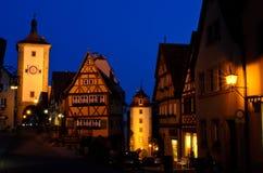Tauber del der del ob de Rothenburg, Alemania Imagen de archivo