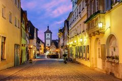 Tauber för Rothenburg obder gammal stad, Tyskland royaltyfria foton