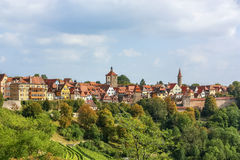tauber rothenburg реки Германии Баварии Стоковые Фото