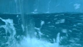 Tauchdelphin im blauen Pool stock video footage