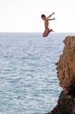 Tauchen in das Meer Stockfotografie