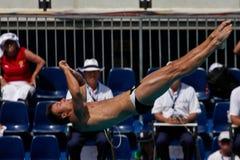 Tauchen der Plattform-10m an der FINA Weltmeisterschaft lizenzfreie stockbilder