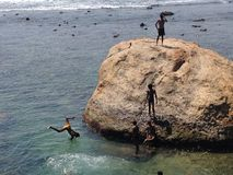 Tauchen im Ozean Stockbilder