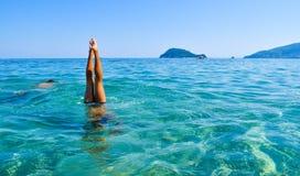 Tauchen Sie in das Meer stockbilder