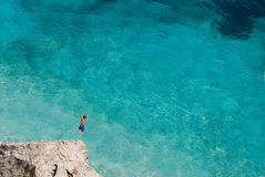 Tauchen Sie in das Meer ein Stockfoto
