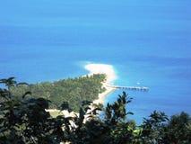 Tauchen Sie Insel-Anlegestelle ein stockfotografie