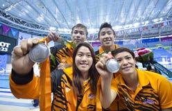Tauchendes Athletenteam Malaysias lizenzfreies stockfoto