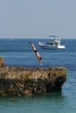 Taucher im Meer Lizenzfreies Stockfoto