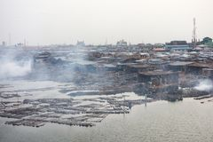 Taudis à Lagos Nigéria Photo libre de droits