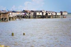 Taudis côtiers de Tawau Photographie stock libre de droits