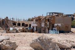 Taudis dans la ville de l'Egypte Images libres de droits