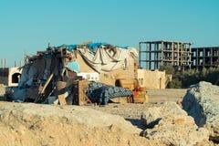 Taudis dans la ville de l'Egypte Photos stock