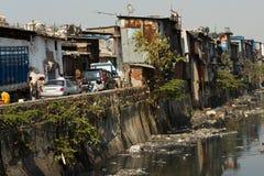 Taudis de Dharavi de Mumbai, Inde Image stock