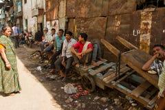 Taudis de Dharavi de Mumbai, Inde Photos libres de droits