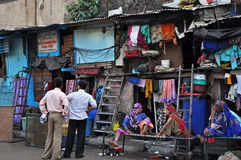Taudis en Inde Photographie stock