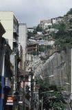Taudis en Rio de Janeiro, Brésil Images libres de droits