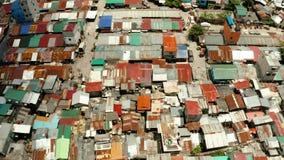Taudis et secteur pauvre de la ville de Manille banque de vidéos