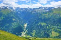 Tauern隧道,从Stubnerkogel,坏Gastein,缆索铁路,奥地利的方式 库存图片