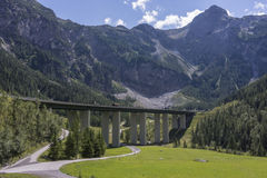 Tauern Road Tunnel is located on the Tauern Autobahn Royalty Free Stock Images
