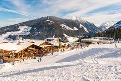 Tauernalm Rohrmoos restaurang Planai & Hochwurzen Schladming-Dachstein region, Styria, Österrike, Europa arkivfoton