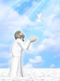 Taufe von Jesus Illustration Lizenzfreies Stockfoto