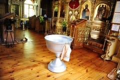 Taufguß in der Russisch-Orthodoxen Kirche Stockfoto