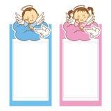 Taufmädchen und -junge Stockfotos
