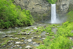 Taughannock Falls and creek Royalty Free Stock Images