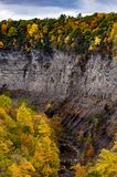 Taughannock Falls & Gorge - Autumn Colors - Ithaca, New York Stock Photo