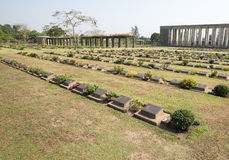 Taukkyan War Cemetery in Yangon Stock Images