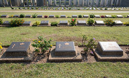 Taukkyan War Cemetery in Yangon Royalty Free Stock Photo