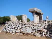 Taula在Talati de Dalt, Menorca,西班牙 免版税库存图片