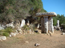 Taula i Torre Trencada, Menorca Royaltyfri Fotografi