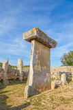 Taula megalithic monument in Torralba den Salord, Menorca, Spain Stock Image